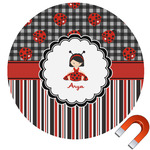 Ladybugs & Stripes Car Magnet (Personalized)