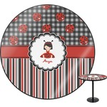 Ladybugs & Stripes Round Table (Personalized)
