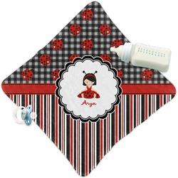 Ladybugs & Stripes Security Blanket (Personalized)