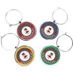 Ladybugs & Stripes Wine Charms (Set of 4) (Personalized)