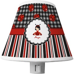 Ladybugs & Stripes Shade Night Light (Personalized)