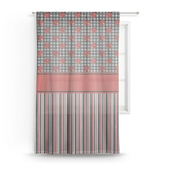 "Ladybugs & Stripes Sheer Curtain - 50""x84"" (Personalized)"