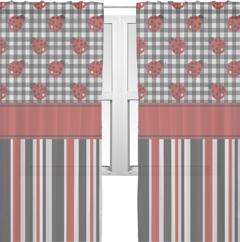 Ladybugs Amp Stripes Window Sheer Scarf Valance