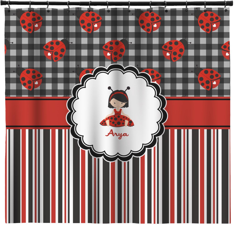 Ladybugs Amp Stripes Extra Long Shower Curtain 70 Quot X90