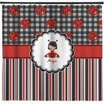 Ladybugs & Stripes Shower Curtain (Personalized)
