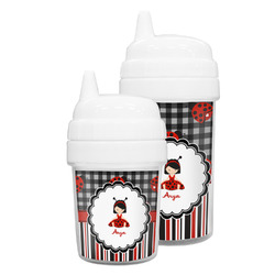 Ladybugs & Stripes Sippy Cup (Personalized)