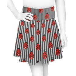 Ladybugs & Stripes Skater Skirt (Personalized)