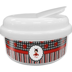 Ladybugs & Stripes Snack Container (Personalized)