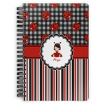 Ladybugs & Stripes Spiral Bound Notebook (Personalized)
