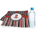Ladybugs & Stripes Sports & Fitness Towel (Personalized)