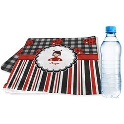 Ladybugs & Stripes Sports & Fitness Towel (Personalized)