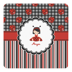Ladybugs & Stripes Square Wall Decal (Personalized)