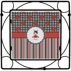 Ladybugs & Stripes Square Trivet (Personalized)