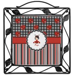 Ladybugs & Stripes Trivet (Personalized)