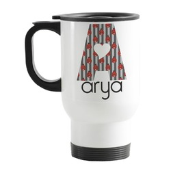 Ladybugs & Stripes Stainless Steel Travel Mug with Handle