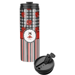 Ladybugs & Stripes Stainless Steel Travel Tumbler (Personalized)