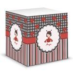 Ladybugs & Stripes Sticky Note Cube (Personalized)
