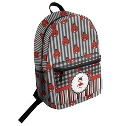 Ladybugs & Stripes Student Backpack (Personalized)