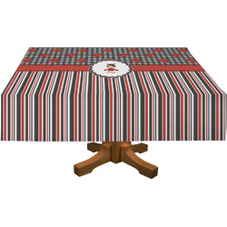 Ladybugs & Stripes Rectangle Tablecloth (Personalized)