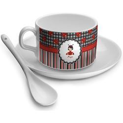 Ladybugs & Stripes Tea Cup - Single (Personalized)