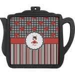 Ladybugs & Stripes Teapot Trivet (Personalized)