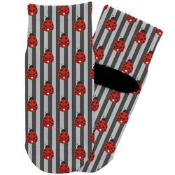 Ladybugs & Stripes Toddler Ankle Socks (Personalized)