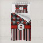 Ladybugs & Stripes Toddler Bedding w/ Name or Text