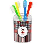 Ladybugs & Stripes Toothbrush Holder (Personalized)