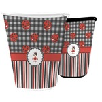 Ladybugs & Stripes Waste Basket (Personalized)