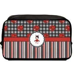 Ladybugs & Stripes Toiletry Bag / Dopp Kit (Personalized)