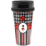 Ladybugs & Stripes Travel Mug (Personalized)