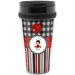 Ladybugs & Stripes Travel Mug (Personalized)