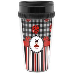 Ladybugs & Stripes Travel Mugs (Personalized)