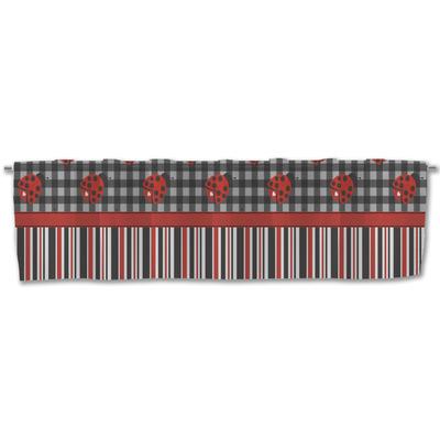 Ladybugs & Stripes Valance (Personalized)