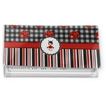 Ladybugs & Stripes Vinyl Checkbook Cover (Personalized)