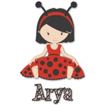 Ladybugs & Stripes Graphic Decal - Custom Sized (Personalized)