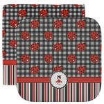 Ladybugs & Stripes Facecloth / Wash Cloth (Personalized)