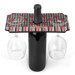 Ladybugs & Stripes Wine Bottle & Glass Holder (Personalized)