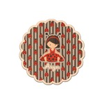 Ladybugs & Stripes Genuine Wood Sticker (Personalized)