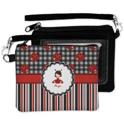 Ladybugs & Stripes Wristlet ID Case w/ Name or Text