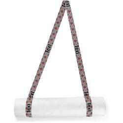 Ladybugs & Stripes Yoga Mat Strap (Personalized)