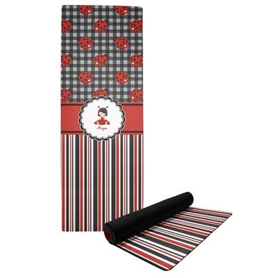 Ladybugs & Stripes Yoga Mat (Personalized)