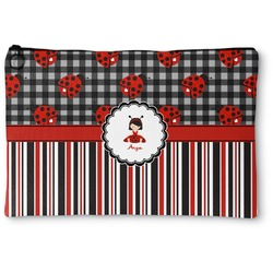 Ladybugs & Stripes Zipper Pouch (Personalized)