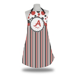 Red & Black Dots & Stripes Apron (Personalized)