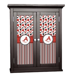 Red & Black Dots & Stripes Cabinet Decal - Custom Size (Personalized)