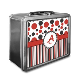 Red & Black Dots & Stripes Lunch Box (Personalized)