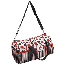 Red & Black Dots & Stripes Duffel Bag - Multiple Sizes (Personalized)