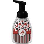 Red & Black Dots & Stripes Foam Soap Dispenser (Personalized)