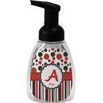Red & Black Dots & Stripes Foam Soap Dispenser (Personalized)