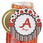 Red & Black Dots & Stripes Jar Opener (Personalized)